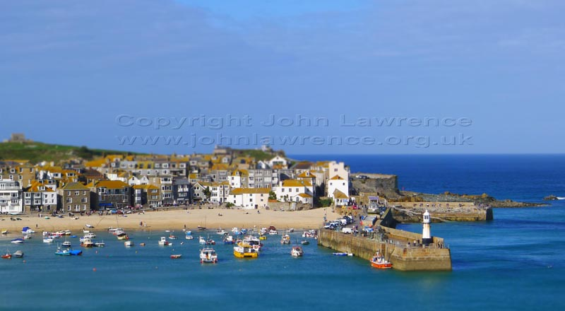 st ives harbour in the summer