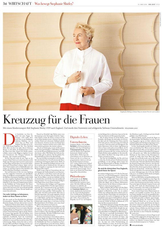 published article in a german magazine