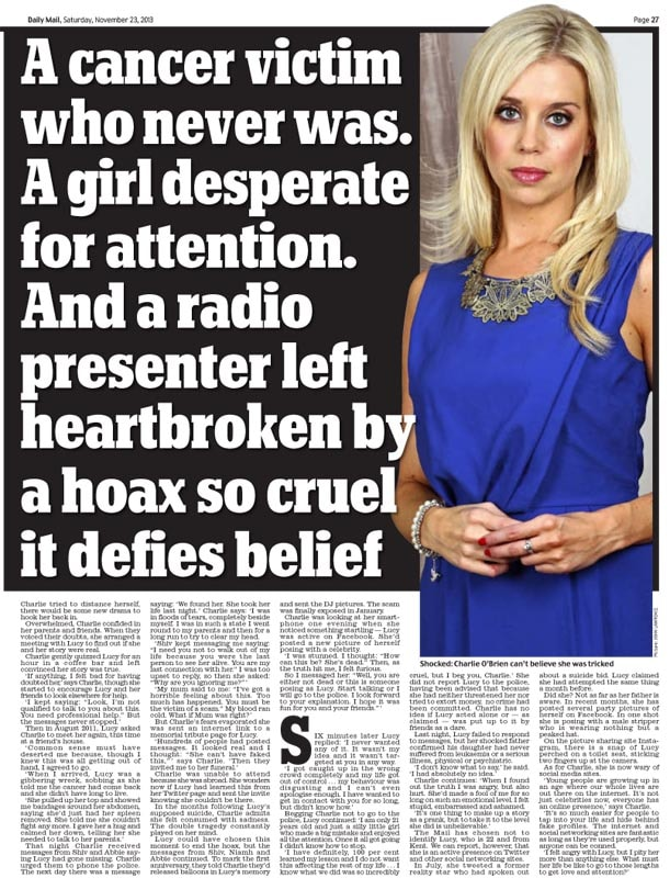 published article in the daily mail